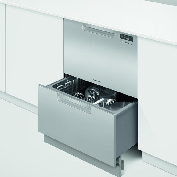 FISHER & PAYKEL 60cm Integrated Double Drawer Dishwasher - DD60DCHX9-Briscoes