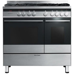 FISHER & PAYKEL 90cm Freestanding Dual Fuel Cooker - OR90L7DBGFX1-Briscoes