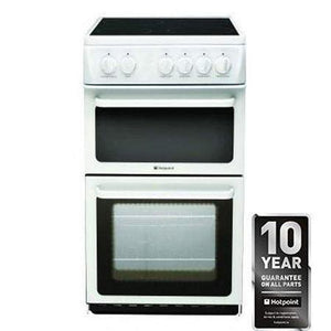 HOTPOINT 50Cm Freestanding Electric Cooker - HAE51PS-Briscoes