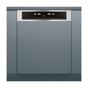 HOTPOINT AQUARIUS with 13 Place Setting Semi Integrated Dishwasher - HBC2B19XUK-Briscoes
