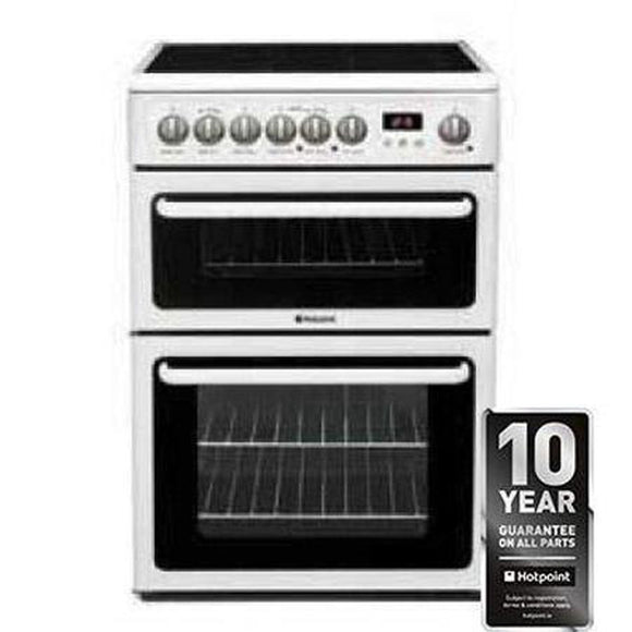 HOTPOINT Electric Double Oven Cooker With Ceramic Hob - HAE60PS-Briscoes
