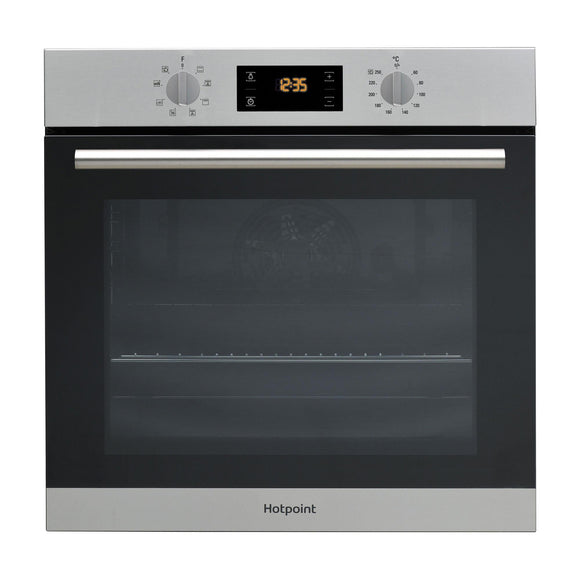 HOTPOINT Series 2 With Round Handle Multifunction Oven 66 Litres - SA2540HIX-Briscoes