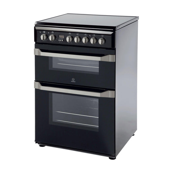 INDESIT 60cm Electric Cooker Double Variable Grill - ID60C2KS-Briscoes