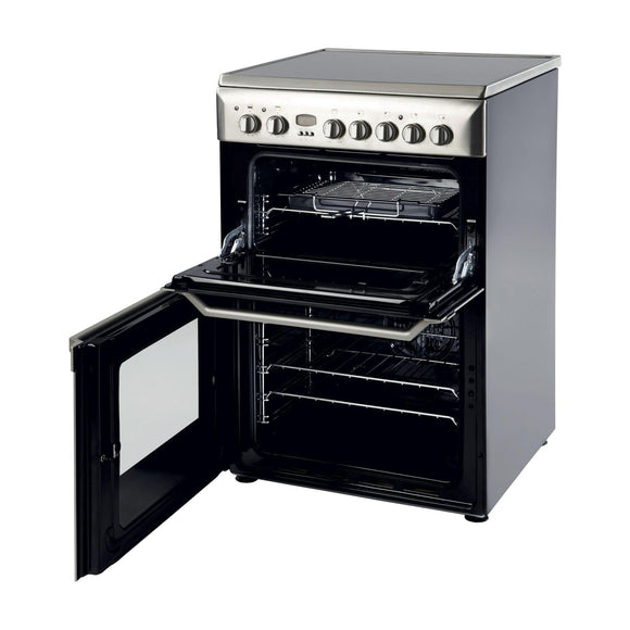 INDESIT 60cm Electric Cooker Double Variable Grill - ID60C2XS-Briscoes