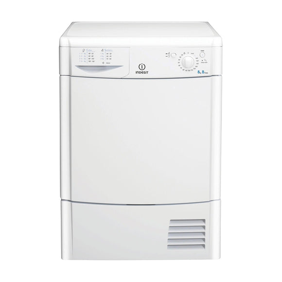 INDESIT ECOTIME Condenser Timed Dryer 8 KG LED - IDC8T3BUK-Briscoes