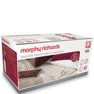 MORPHY RICHARDS Double Dual Washable Fleece Heated Underblanket - 600013-Briscoes