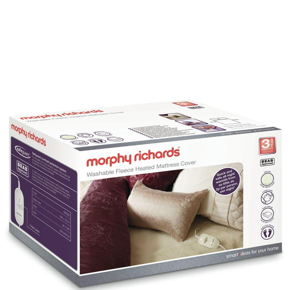 MORPHY RICHARDS Double Dual Washable Luxury Fleece Heated Mattress Cover - 620012-Briscoes