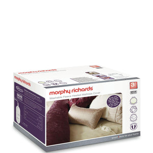 MORPHY RICHARDS King Dual Washable Luxury Fleece Heated Mattress Cover - 620013-Briscoes