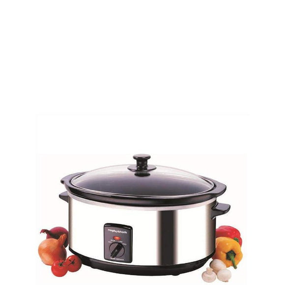 MORPHY RICHARDS Slow Cooker S/Steel 6.5Ltr - 48715-Briscoes