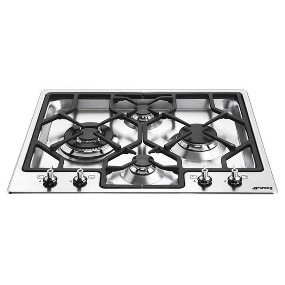 SMEG 60Cm Classic 4 Burner Ultra Low Profile Gas Hob - PGF644-Briscoes
