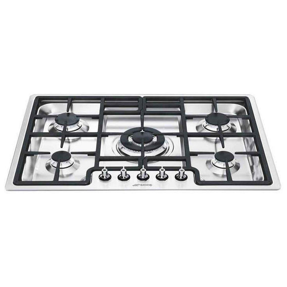 SMEG 70Cm Classic 5 Burner Ultra Low Profile Gas Hob - PGF754-Briscoes