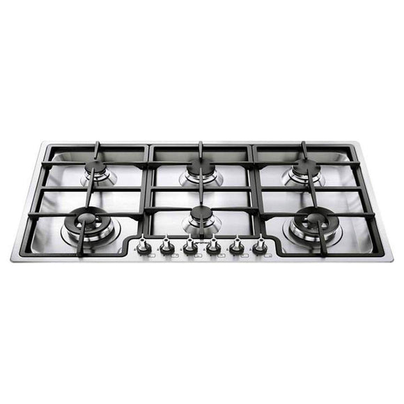 SMEG 90Cm Classic 6 Burner Ultra Low Profile Gas Hob - PGF96-Briscoes