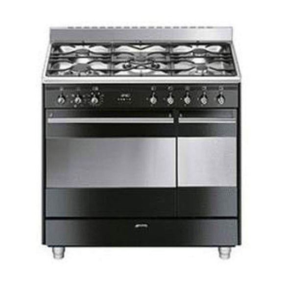 SMEG 90Cm Gloss Dual Cavity Dual Fuel Cooker - SUK92MBL9-Briscoes