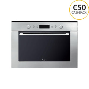 WHIRLPOOL 45cm Combi Microwave with Ambient Styling - AMW820IX-Briscoes
