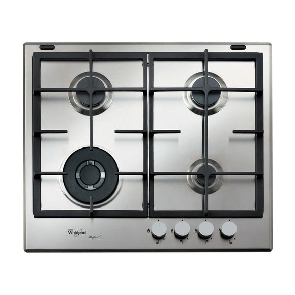 WHIRLPOOL 60cm Gas Hob with Ixelium - GMA6422IXL-Briscoes