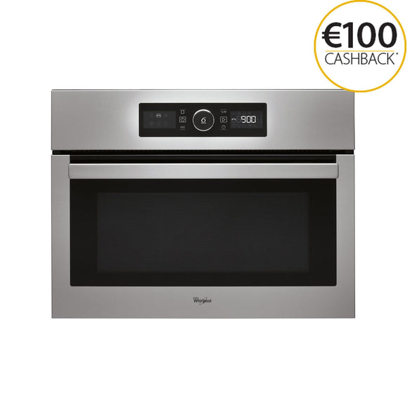 WHIRLPOOL 6th Sense 45cm Combi Microwave with Absolute Styling - AMW515IX-Briscoes