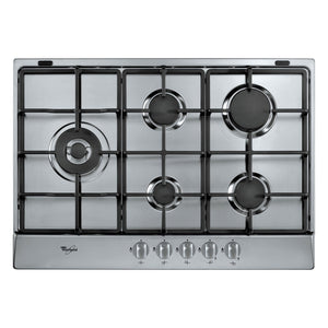 WHIRLPOOL 73cm Gas Hob with Inox - Anti Fingerprint - AKR318IX-Briscoes