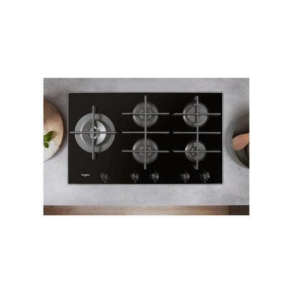 WHIRLPOOL Gas Hob 5 Gas Burners - GOW9553NB