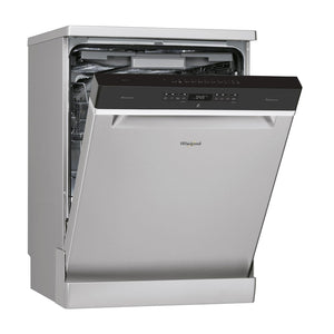 WHIRLPOOL PowerDry PowerClean 6th Sense S/Steel Dishwasher - WFO3P33DLX-Briscoes