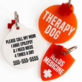 rebeldawg.com - medical Dog ID Tag: Double-Sided Custom Medical