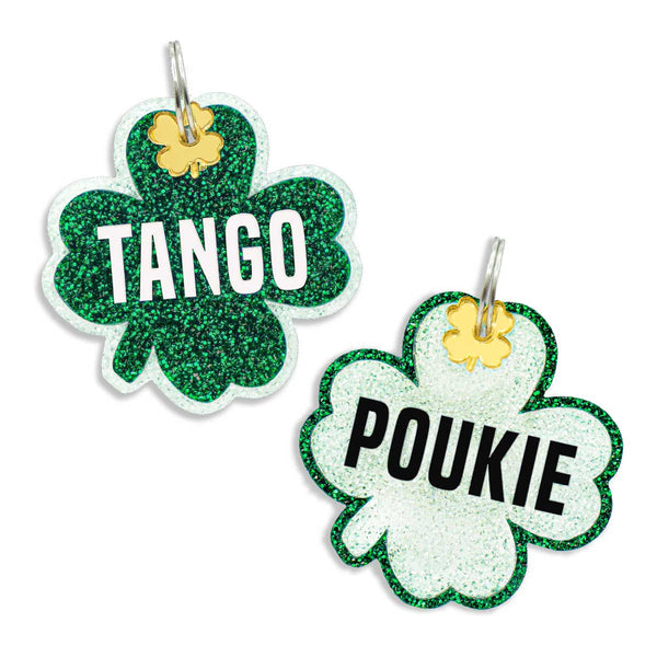 Dog ID Tag: Double-Sided Shamrock