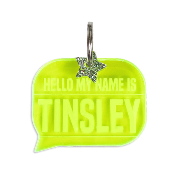 Dog ID Tag: HELLO MY NAME IS....