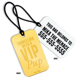 rebeldawg.com - Travel Travelling With a VIP Pup Custom Luggage Tag