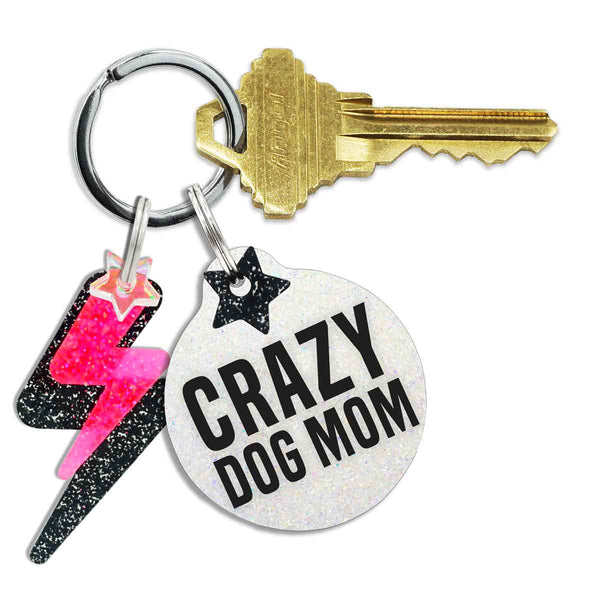 Crazy Dog Mom Keychain