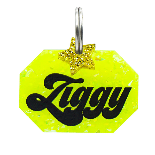 Dog ID Tag: Double-Sided Geo Gem