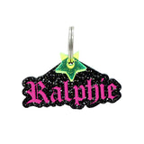 rebeldawg.com - Nameplates Dog ID Tag: Double-Sided Gothic Nameplate