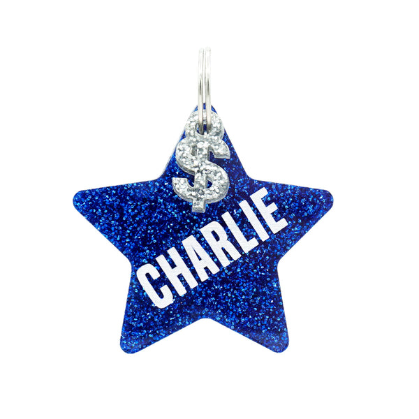 Dog ID Tag: Double-Sided Star
