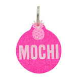 REBELDAWG.COM - ID Tags Double-Sided Glitter Run-A-Round ID Tag
