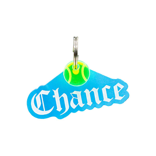 Dog ID Tag: Double-Sided Gothic Nameplate
