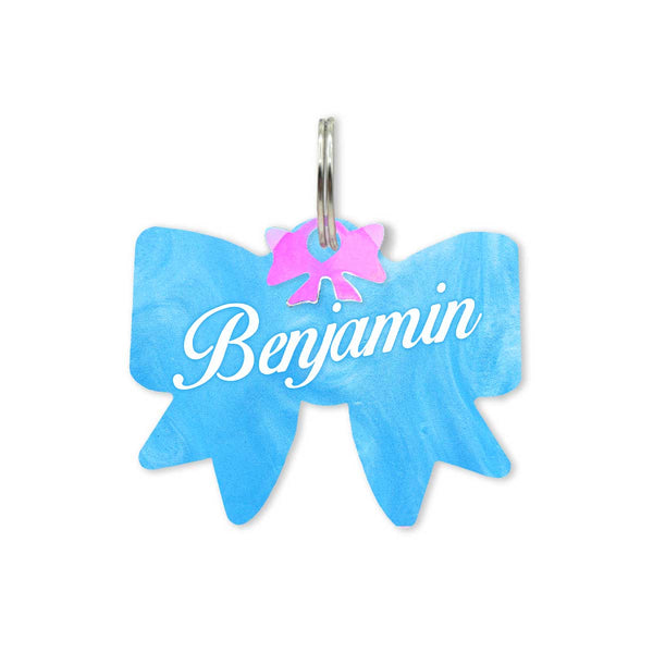 Dog ID Tag: Double Sided Bow