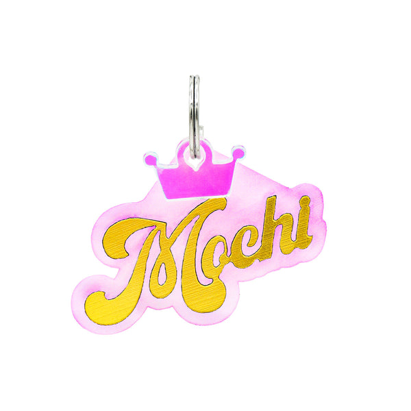 Fashion dog tags! Customize your dog to the max with our personalized one of a kind Dog ID Nameplates. Check out Rebel Dawg's newest collection featuring a brilliant gold acrylic overlay. Free personalization and mini charm. Shop Now!