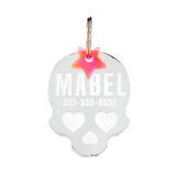rebeldawg.com - ID Tags Dog ID Tag: Skull
