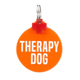 rebeldawg.com - medical Dog ID Tag: Double-Sided Therapy Dog