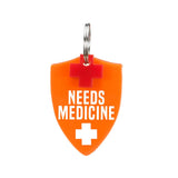 rebeldawg.com - medical Dog ID Tag: Needs Meds