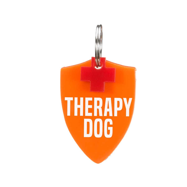 Dog ID Tag: Double-Sided Therapy Dog