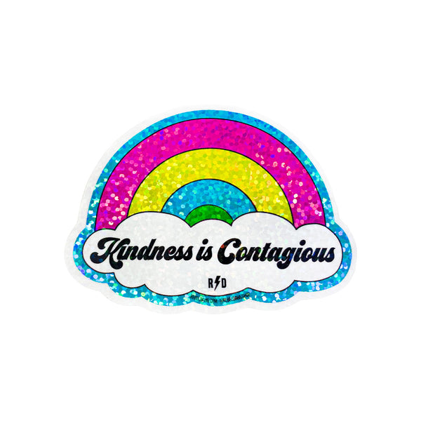 Rainbow Sticker, Rainbow Glitter, Kindness in Contagious Sticker
