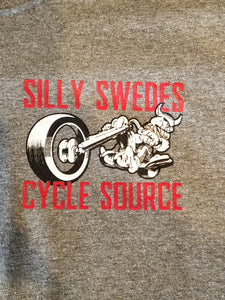 ~NEW~Silly Swedes Cycle Source Tee/ GRAY T-Shirt