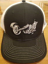 Silly Swedes Cycle Source Snapback Hat- BLACK front -  WHITE mesh- BLACK writing on side