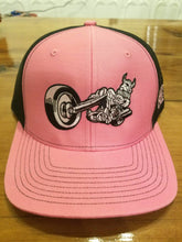 Silly Swedes Cycle Source Snapback Hat- PINK front -  BLACK mesh- PINK writing on side