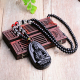 Buddha Black Obsidian Necklace