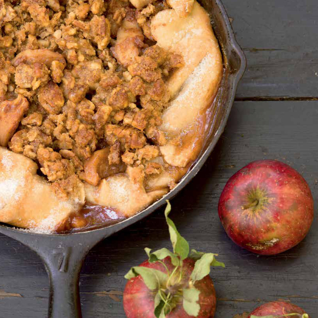 Apple Pie in Black Frying Pan