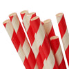SWZLE Premium Eco-Friendly Paper Drinking Straws (Red/White Striped - Wrapped)