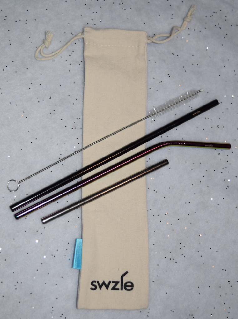 Reusable Stainless Steel Straws in Canvas Bag