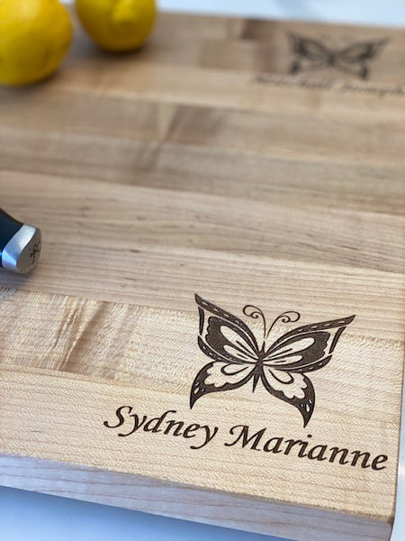 Maple Cutting Board- Butterfly Design