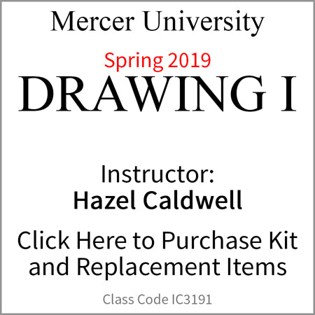 Mercer University Drawing I Spring 2019 Caldwell