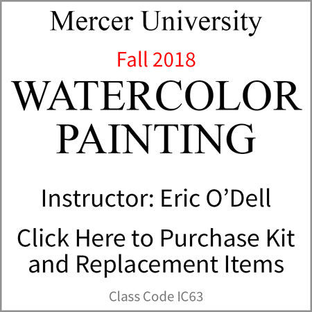 Mercer University Watercolor Painting Fall 2018 O'Dell